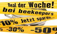 Honig-Doppelsieb, Edelstahl, extra flach