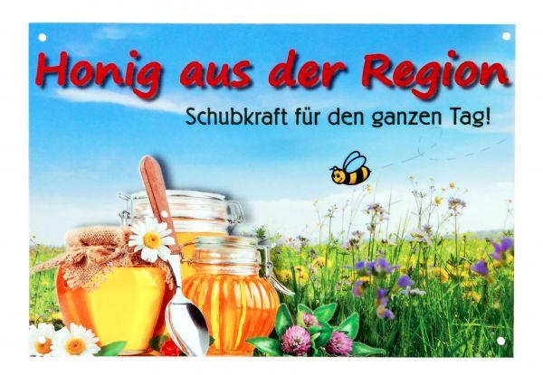 """Werbeschild """"Honig aus der Region"""", 29,5 x 21 cm"""