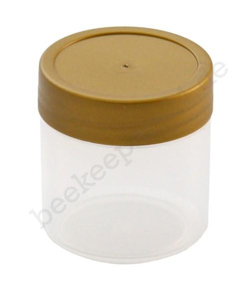 Probeglas 35 ml, Kunststoff mit Deckel
