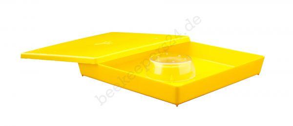 Lega Futtertrog, 1,5l, quadratisch, gelb