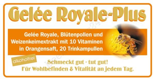 Gelée Royale-Plus Orange, alkoholfrei, 20 Trinkampullen à 10 ml (200 ml)