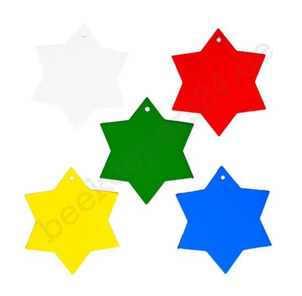 Leitsterne, verschiedene Farben, 5 Stück