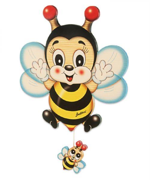 Wand-Spieluhr Biene groß