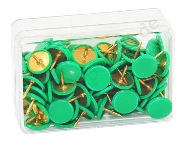 Heftzwecken grün, 100 Stück