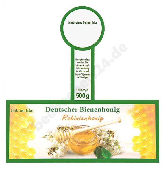 """Honigglas-Etikett mit Steg, """"Robinienhonig"""", 500 g, selbstklebend, 100 Stück"""