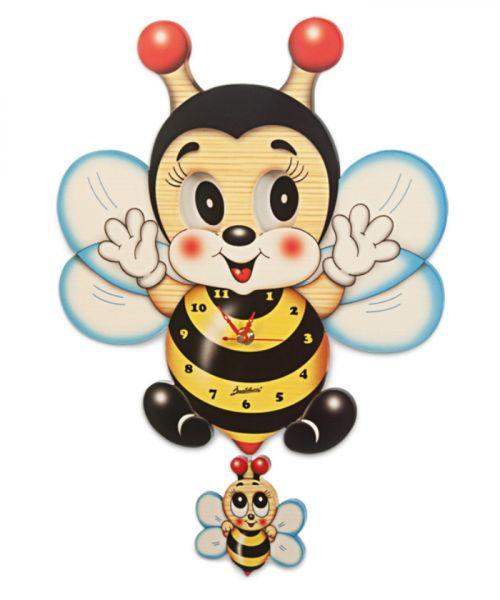 Wanduhr Biene mit bewegten Augen