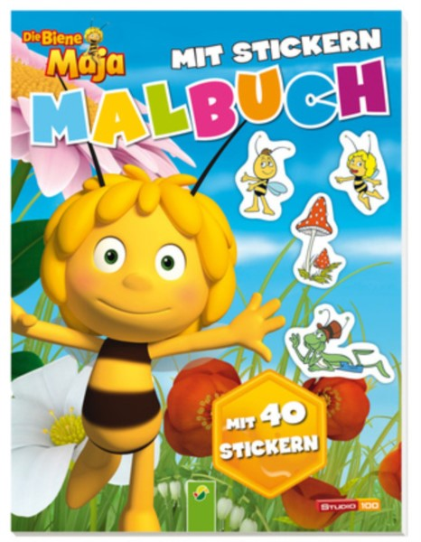 Malbuch Die Biene Maja mit 40 Stickern