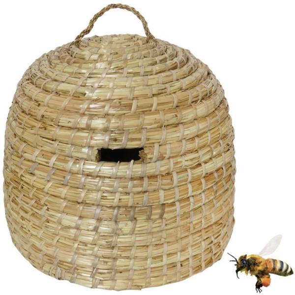 Großer Strohbienenkorb, ca. 35 x 40 cm