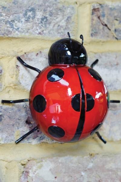 Wanddeko Marienkäfer groß