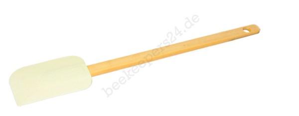 Teigschaber Silikon mit Holzgriff, 46 cm