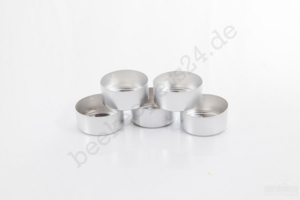 Alu-Teelichthüllen, 100 Stück