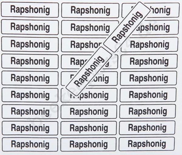 """Sorten-Haftetikett """"Rapshonig"""", 110 Stück"""
