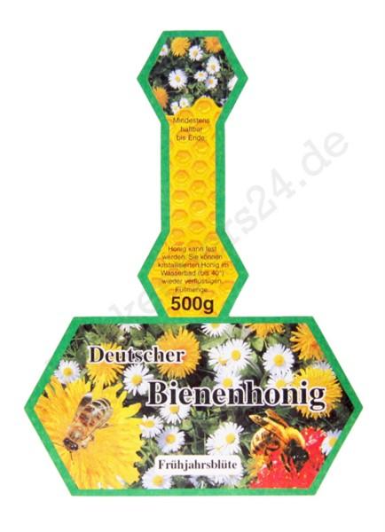 """Honig-Stegetikett """"Frühjahrsblüte"""", 500 g, 100 Stück, selbstklebend"""