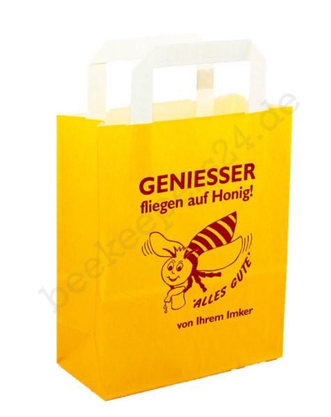 """Papier-Tragetasche """"Genießer"""", gelb"""