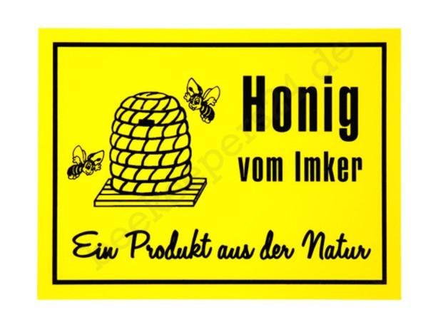 """Werbeschild """"Honig vom Imker"""", 70 x 50 cm"""