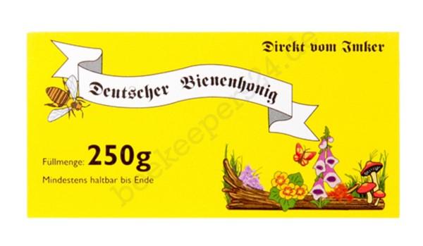 Honig-Etikett gelb, 250g, 100 Stück