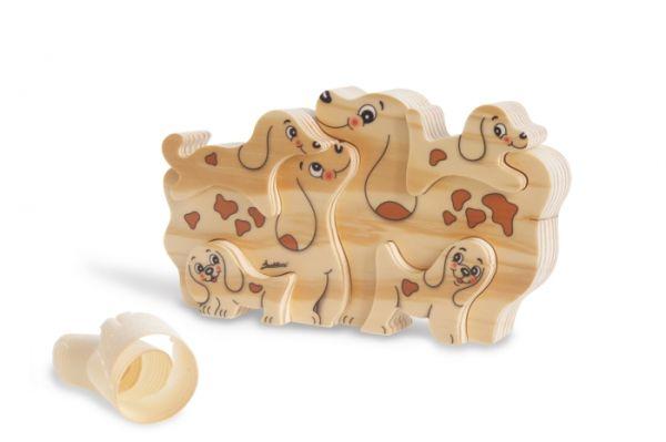 Holz-Steckspiel Hunde