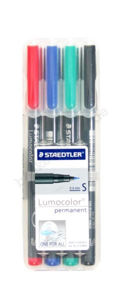 Folienstift Lumocolor S permanent, 4er Set