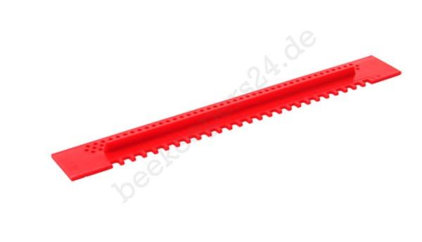 Fluglochschieber Kunststoff, rot