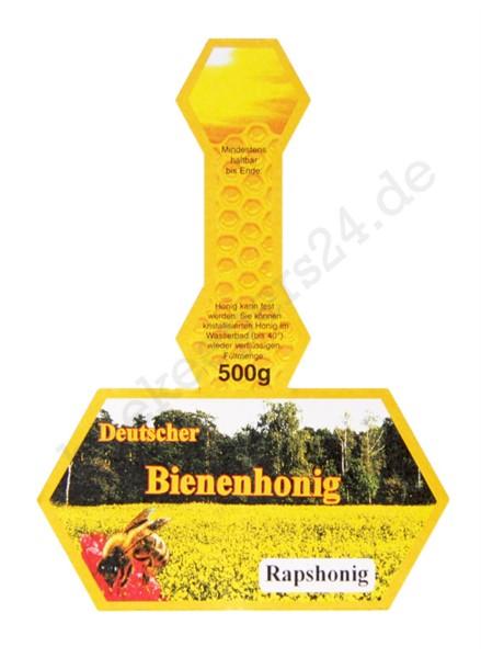 "Honig-Stegetikett ""Rapshonig"", 500 g, 100 Stück"