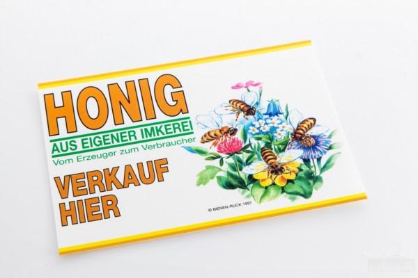 Werbeschild Flores, 35 x 25 cm