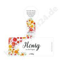 500g 100 Stück selbstklebend Honig-Etikett Wald