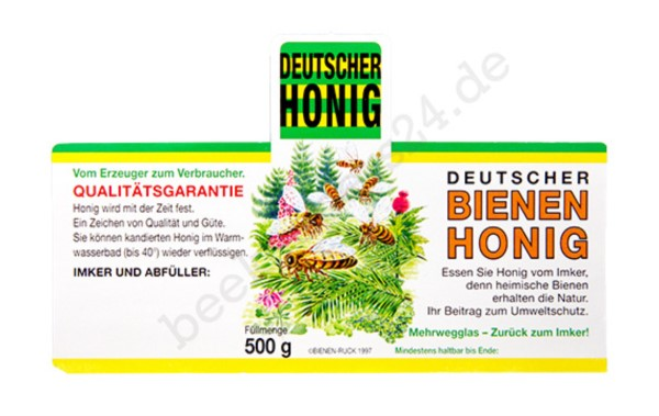 Honig-Etikett Wald, 500g, 100 Stück, nassklebend
