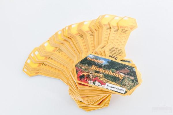 """Honig-Stegetikett """"Sommerblüte"""", 500 g, 100 Stück"""