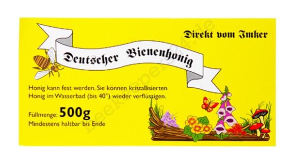 Honig-Etikett gelb, 500g, 100 Stück