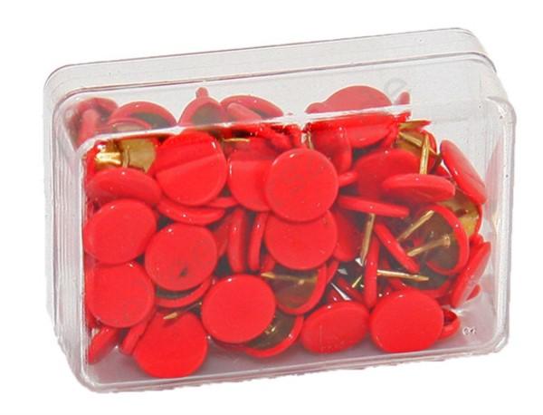 Heftzwecken rot, 100 Stück