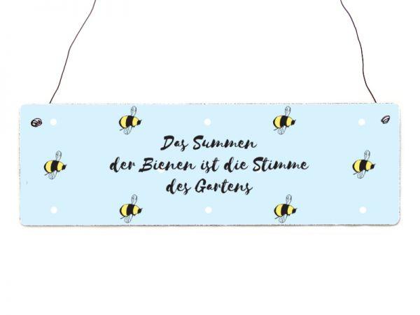 """Holzschild """"Das Summen der Bienen..."""""""