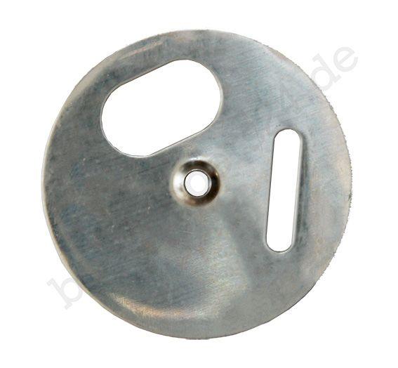 Fluglochrosette Edelstahl, Ø 50 mm