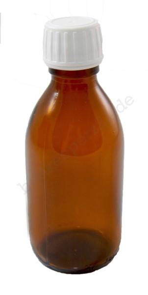 Braune Säureflasche mit Tropfmontur, 200 ml