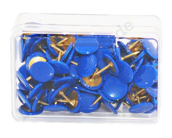 Heftzwecken blau, 100 Stück