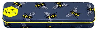 Bleistift-Dose mit Bienenmotiv