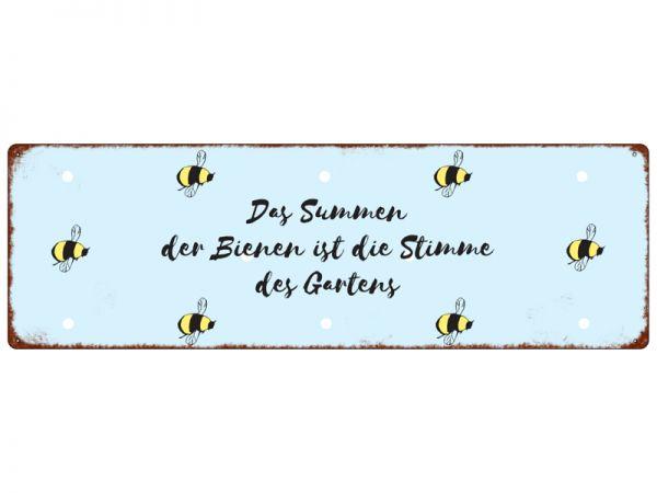 """Metallschild """"Das Summen der Bienen..."""""""