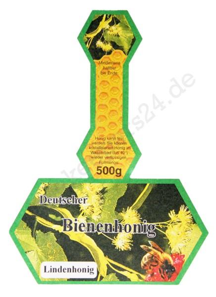 """Honig-Stegetikett """"Lindenhonig"""", 500 g, 100 Stück"""