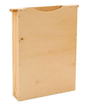 Bienenfütterung Futtersirup einfache Wabenbreite Holz-Futtertasche Dadant US
