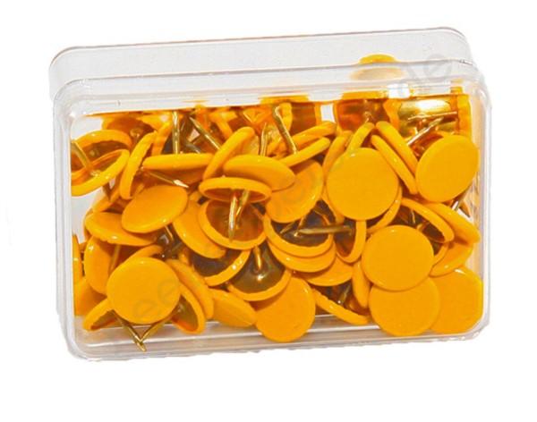 Heftzwecken gelb, 100 Stück