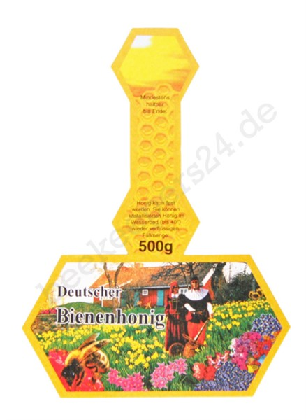 Honig-Stegetikett neutral, 500g, 100 Stück, selbstklebend