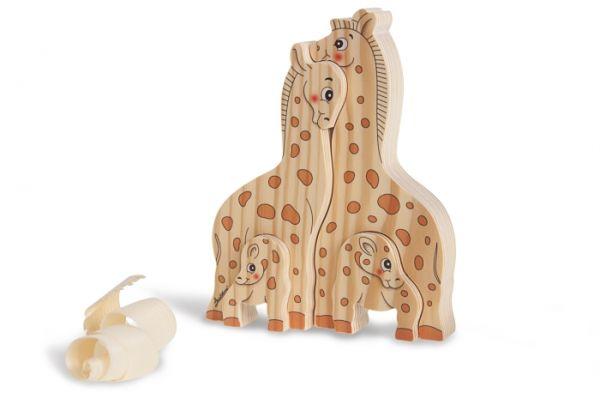 Holz-Steckspiel Giraffen