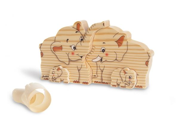 Holz-Steckspiel Elefanten