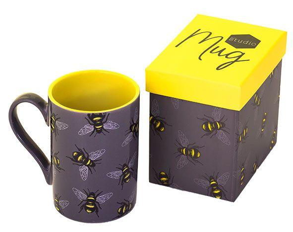 Keramik-Tasse mit Bienenmotiv