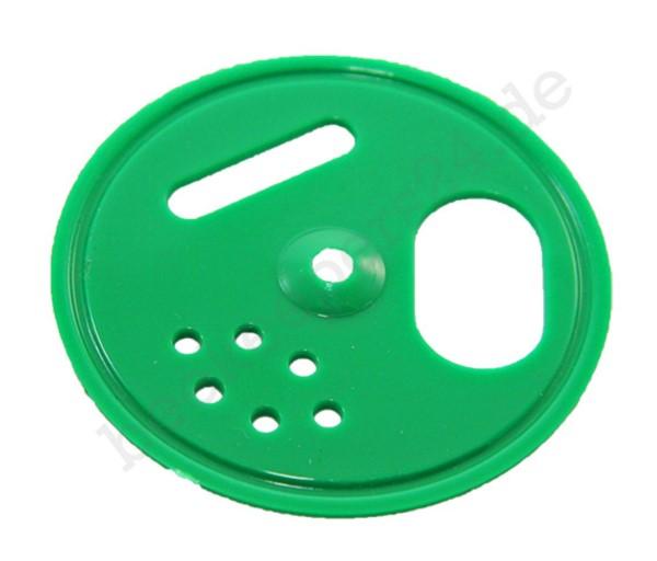 Fluglochrosette grün, Ø 50 mm