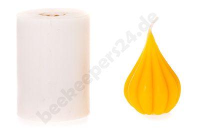 Kerzen-Gießform Tropfen gerillt