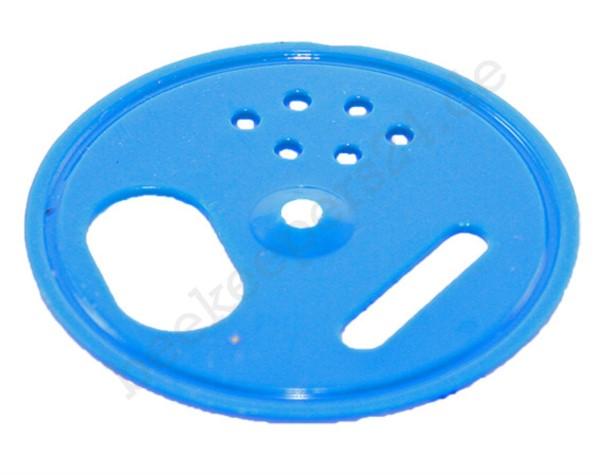 Fluglochrosette blau, Ø 50 mm