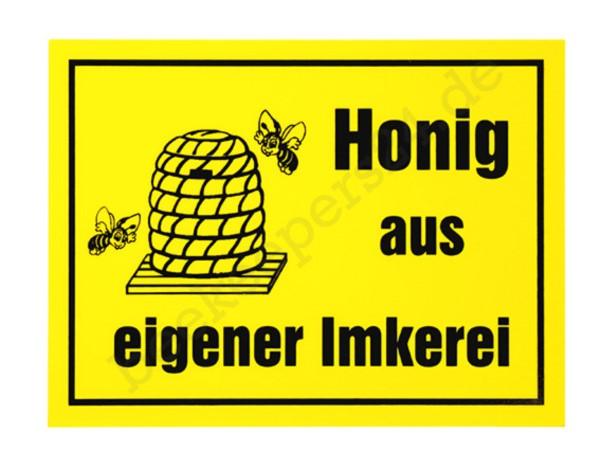 """Werbeschild """"Honig aus eigener Imkerei"""", 20x15 cm"""