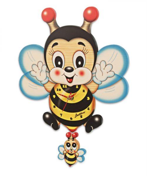 Wanduhr Biene groß