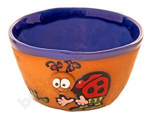 Keramik-Schale, Motiv Marienkäfer
