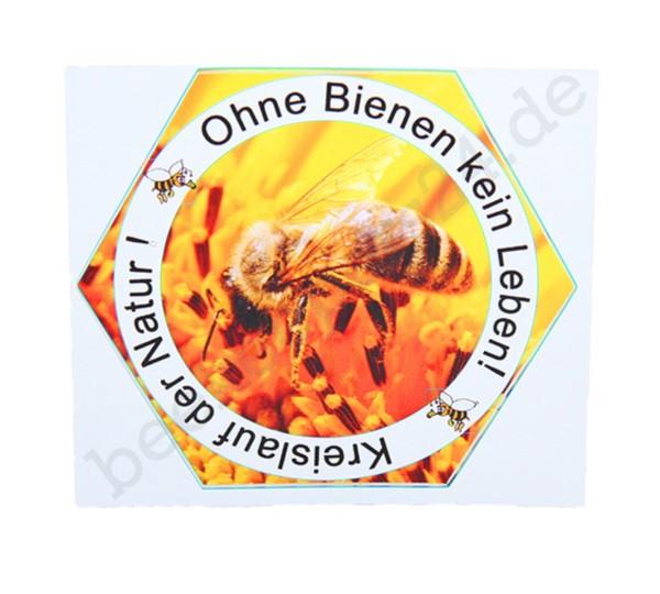 """Aufkleber """"Ohne Bienen keine Leben"""""""
